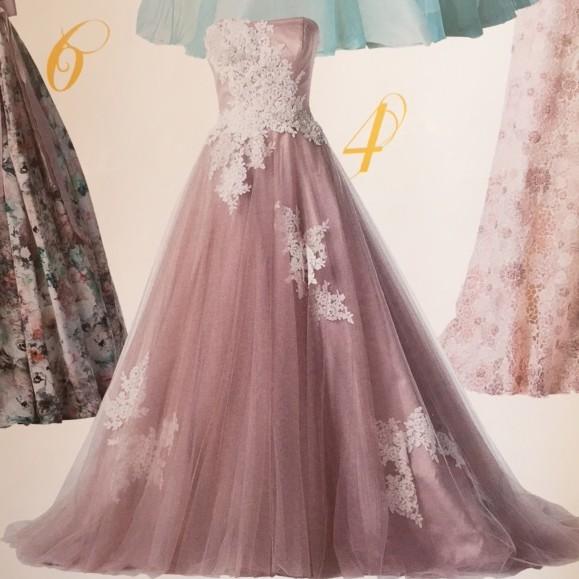 ニュアンスカラードレス