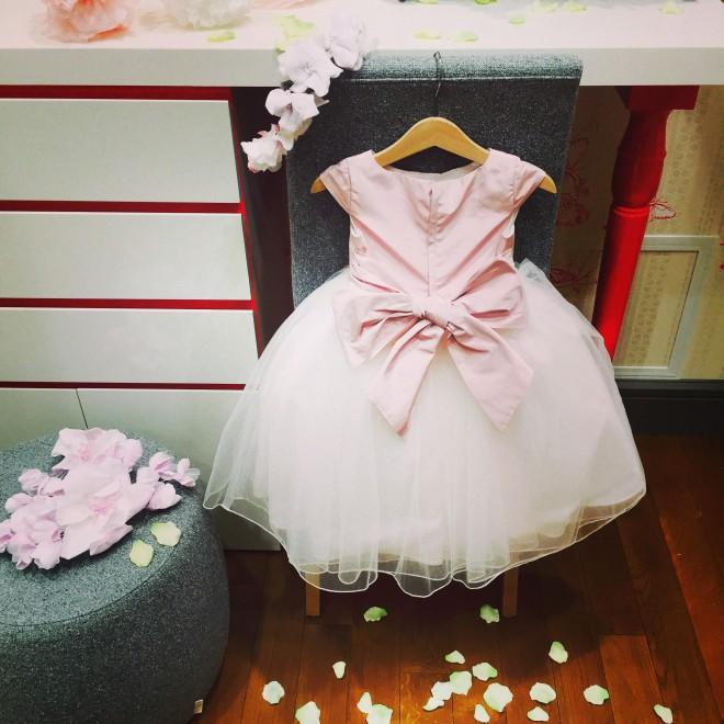 フラワーガール 女の子ドレス ピンク